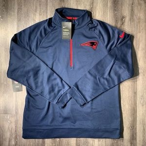 Nike New England Patriots Therma Half Zip Pullover